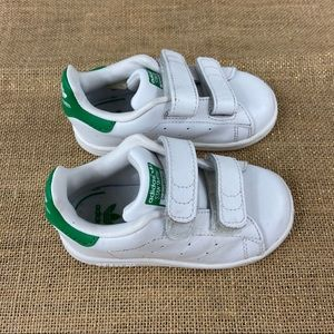 Adidas Stan smith toddler sneakers in white/green